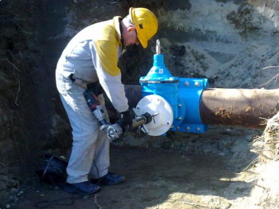 комплекс услуг врезки в трубопровод